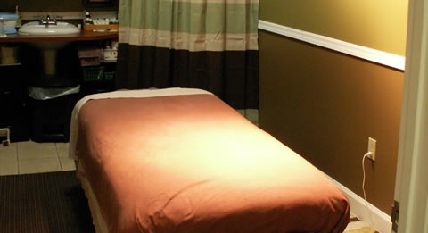 a massage therapy table in Canton, GA