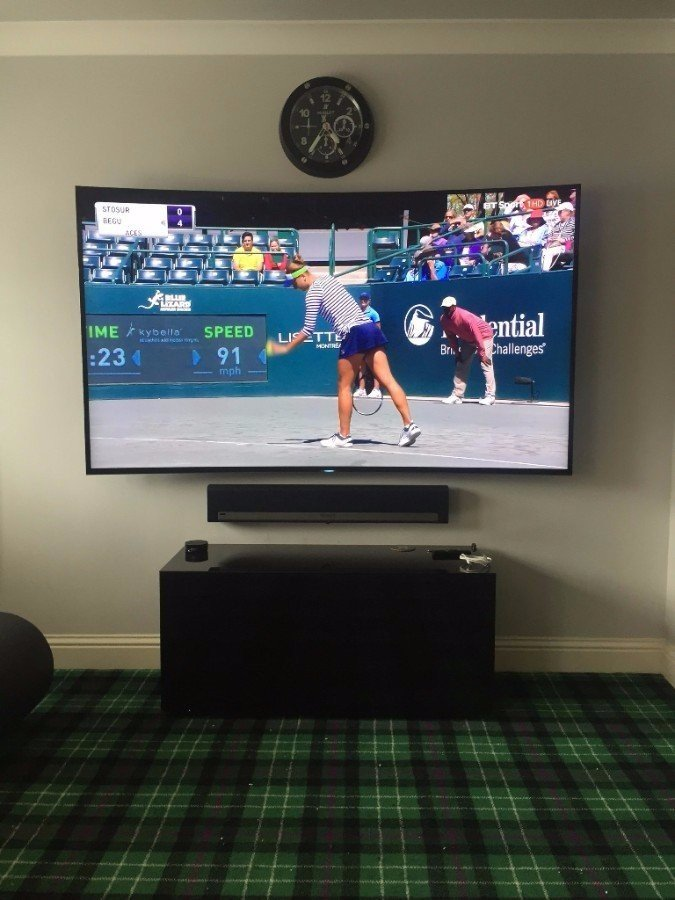 tv and sound bar wall mounting
