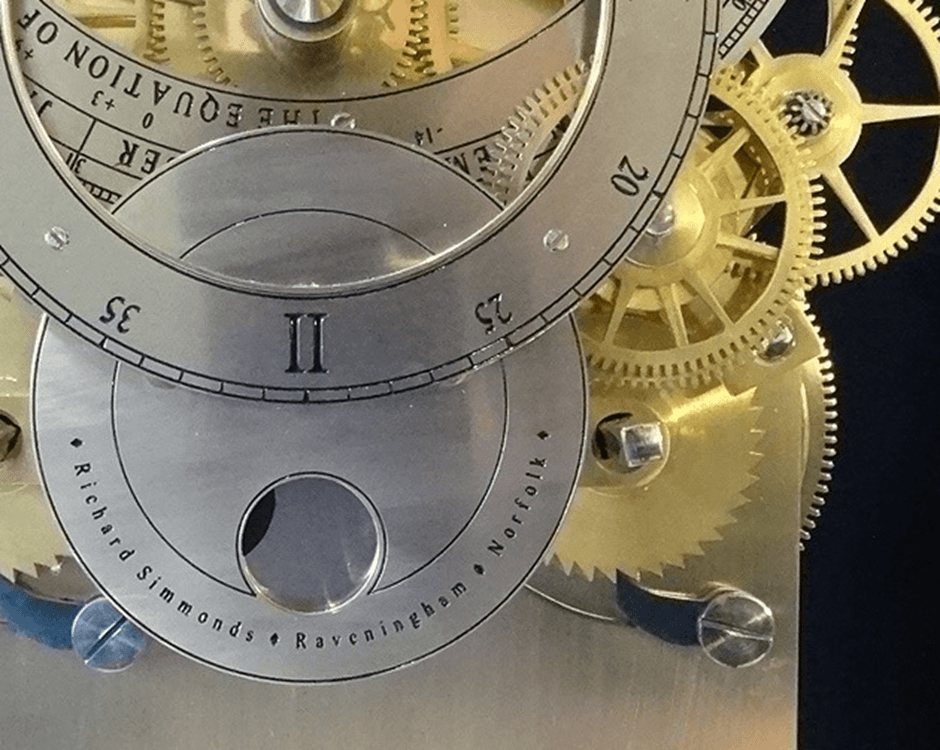 Mechanism inside a clock
