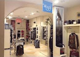una boutique vista dall'interno