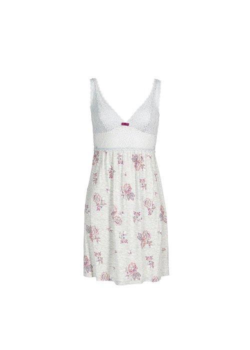 una pigiama di color bianco con fiori