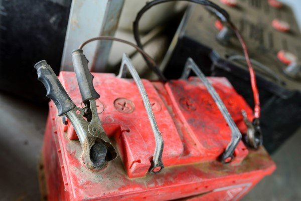 Battery, Jumping, Dead, Car, Auto Repair Shop, Industry, Workshop, Cables, Wire, Garage, Electricity, Jumper Cable