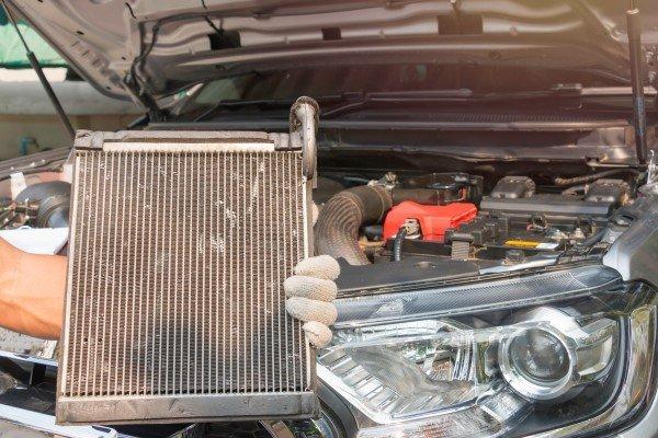 Car condenser radiator