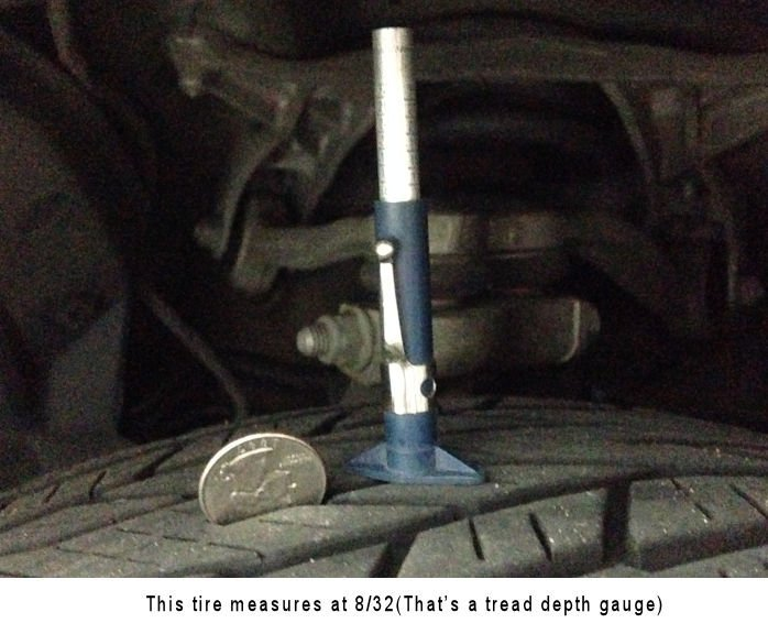 What is a safe tire depth