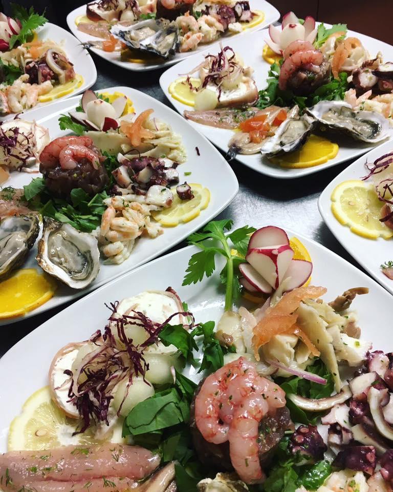 piatti di pesce crudo