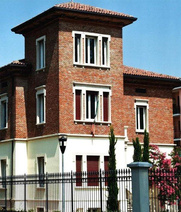 Facciata Villa in stile Liberty
