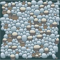 A pile of aggregates
