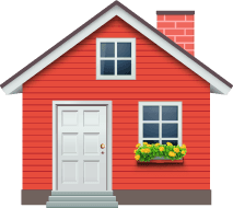 A red house