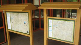 cartelli da cantiere, cartine, freccia e tabella