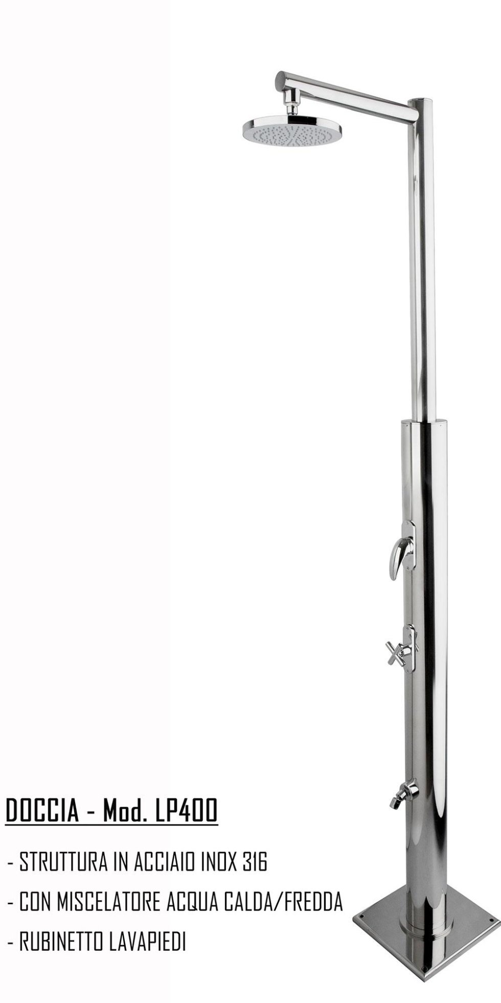 doccia miscelatore acqua calda e fredda