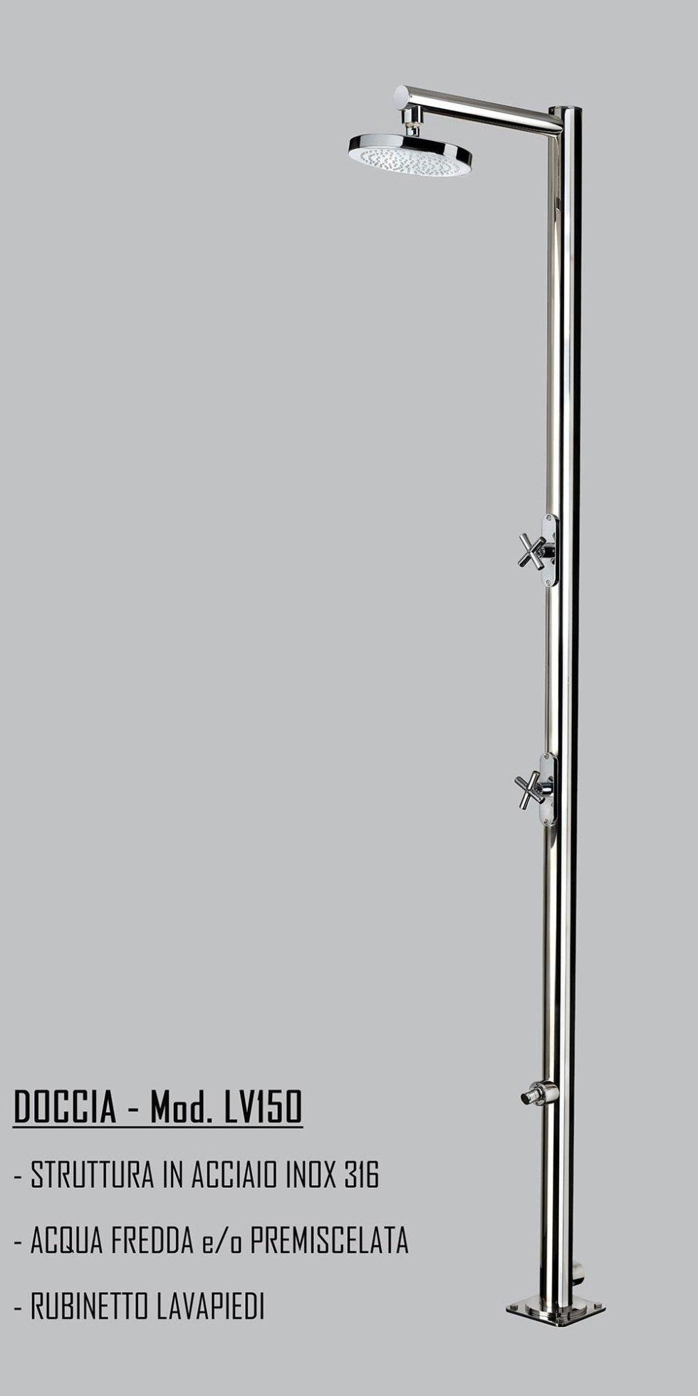doccia acciaio inox 316