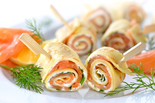 View of rolls creatively presented to customer