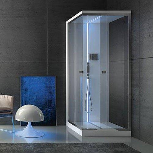 Cabina doccia bianca