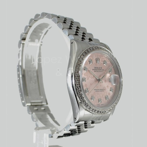 rolex datejust 16220 rosa brillanti