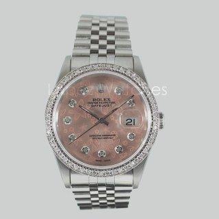 rolex datejust 16220 rosa brillanti