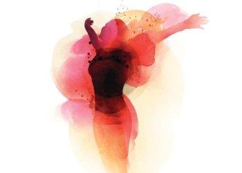 Acquerello di donna con fiore