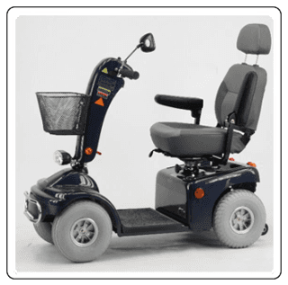 scooter elettrico blu