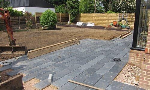 new patios installation
