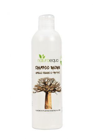 uno shampoo al Baobab per capelli secchi e trattati