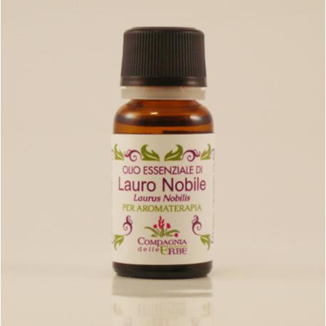 boccetta di olio essenziale di lauro nobile