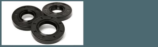 Three black oil seals