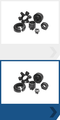 A selection of different size and shaped shaft couplings