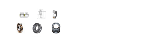 Different sized and shaped contact bearings