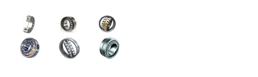 TSix different spherical roller bearings