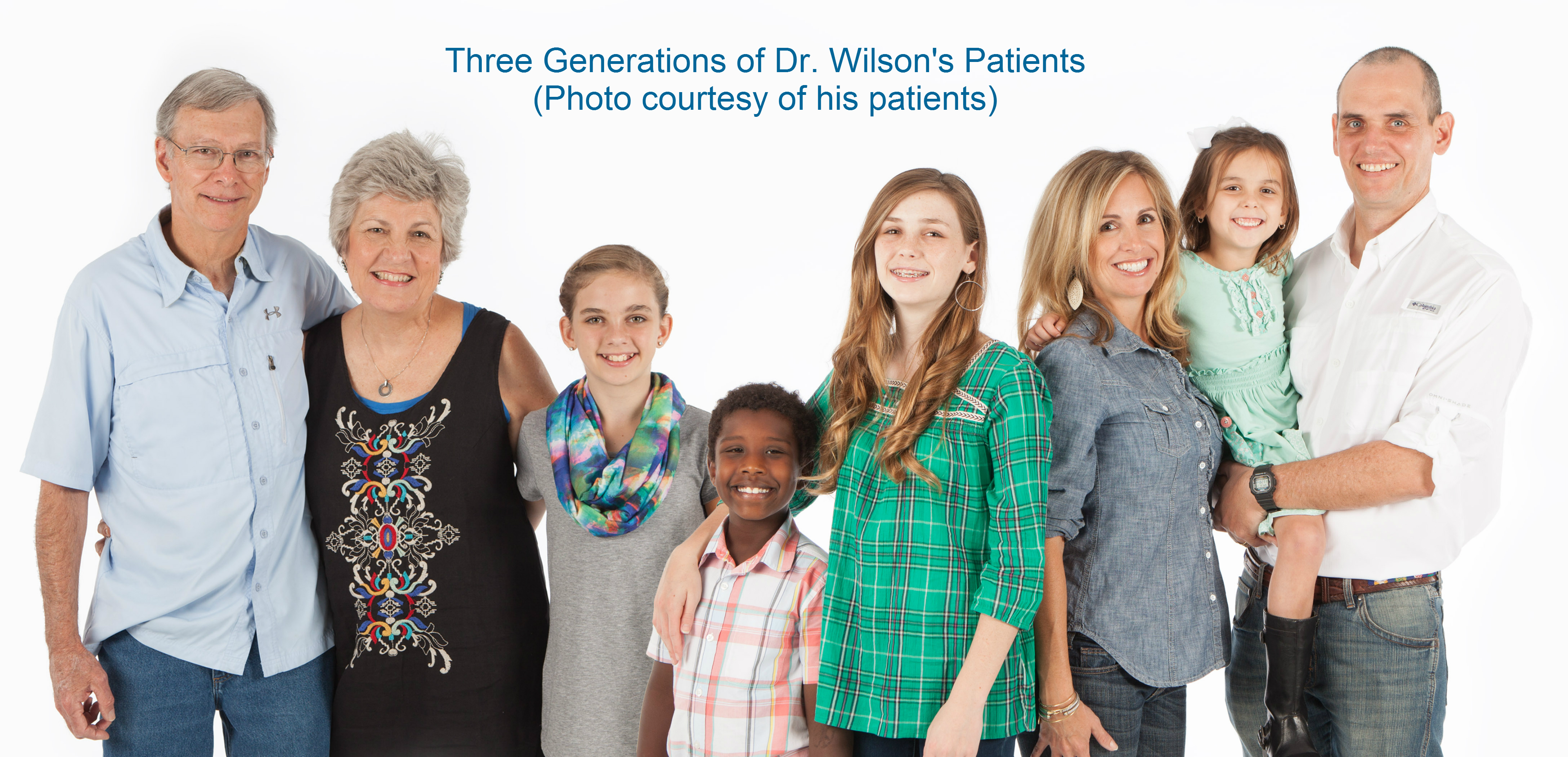 Three generations of Dr. Wilson's Patients