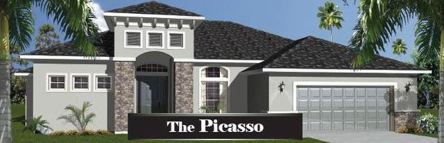 2,495 Sq. Ft. two story home with an attached garage. It's grey with a black shingled roof.