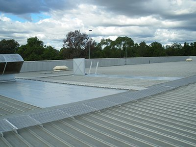 walkway system on roof