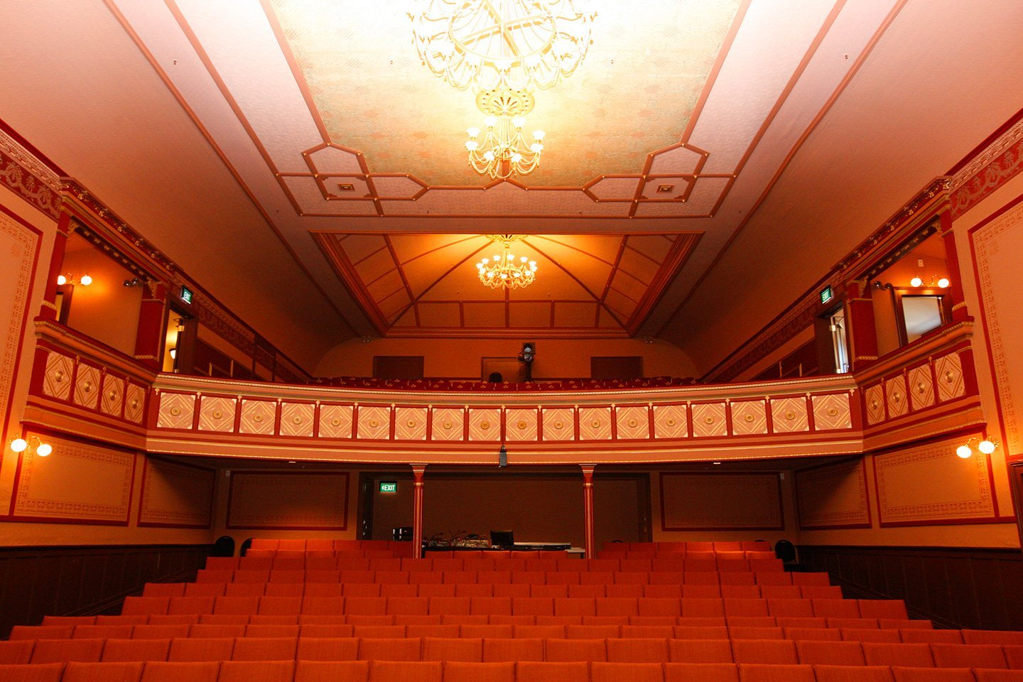 Interior view of a hall