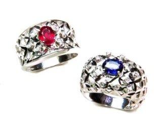 Anello Zaffiro e Anello rubino - Artigianato di Valenza