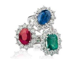 Anello zaffiro - Anello rubino - anello smeraldo