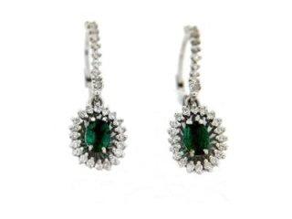 Orecchini con smeraldi e diamanti - Torino