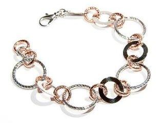Bracciale Fraboso in argento 925 rosato e bianco - Torino