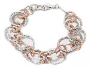 Bracciale Fraboso in argento 925 bianco e rosato - Torino