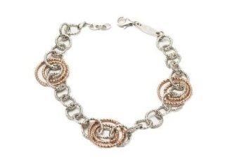 Girocollo Fraboso in argento 925 bianco e rosato - Artigianato di Valenza