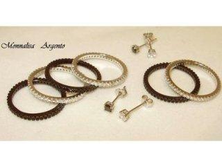 Fedine argento 925, orecchini, punto luce - Gioielli Barron