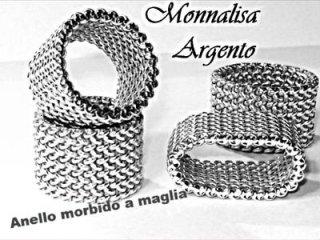 Anello morbido a maglia argento 925 Monnalisa - Torino