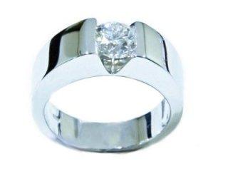 Anello solitario con diamante modello C - Gioielli Barron