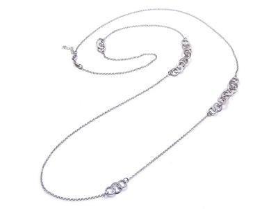 Collana lunga Fabroso in argento bianco 925 - Torino