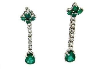 Orecchini diamanti e smeraldi - Torino