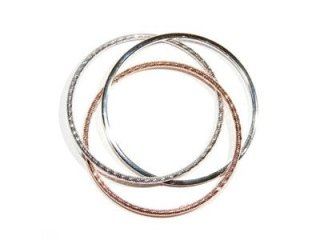 Bracciali a cerchio Fraboso in argento bianco e rosato 925 - Torino