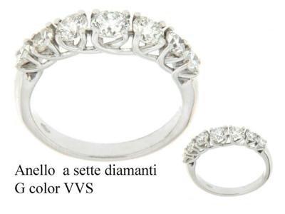 Anello a sette diamanti G color - Barron Gioielli