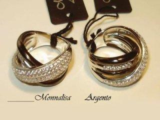 Anello Monnalisa in argento 925 e zirconi bianchi - Gioielli Barron