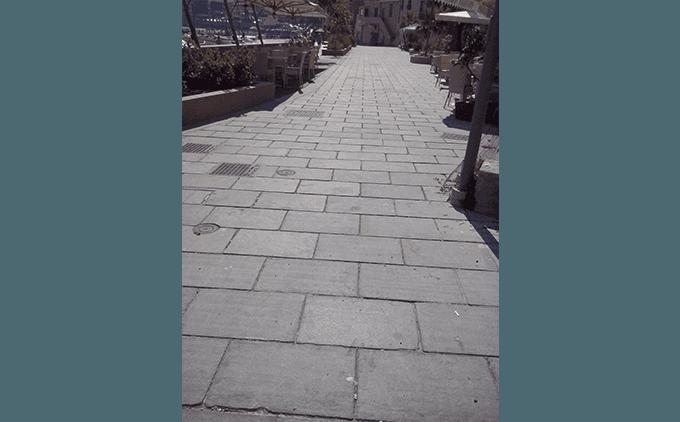 Pavimentazione passeggiata