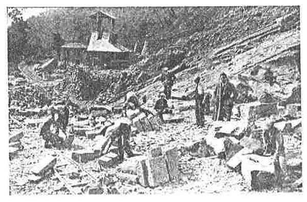 Estratto storico: Foto estrazione cava