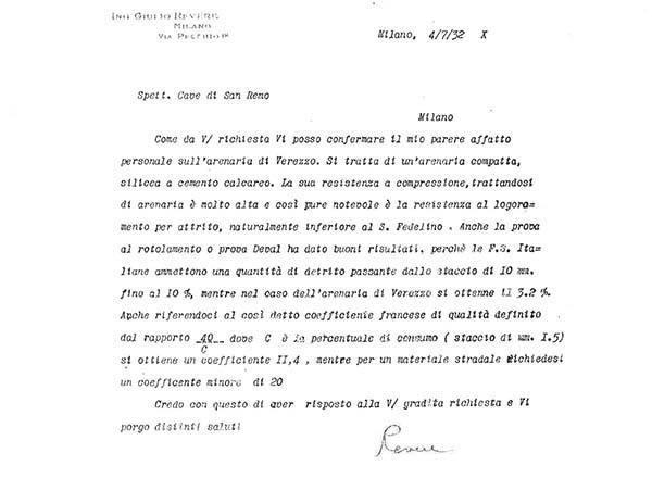 Estratto storico: Richiesta informazioni Ferrovie dello Stato Italiane