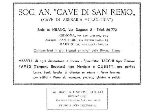 Estratto storico: Cave di